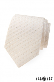 Krawat w drobny wzór w odcieniu Ivory