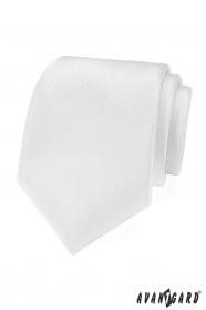 Biały świąteczny krawat o strukturze