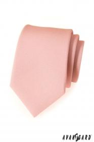 Nowoczesny krawat w kolorze pudrowo-matowym