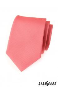 Krawat męski różowy matowy