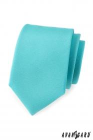 Krawat męski turkusowy mat
