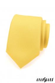Matowy żółty krawat