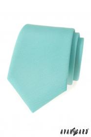 Matowy krawat w kolorze miętowym