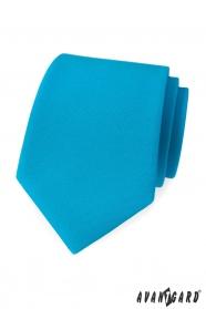 Turkusowy krawat w kolorze matowym