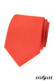 Ciemnopomarańczowy krawat w kolorze matowym