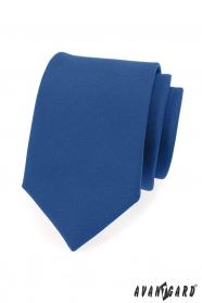 Niebieski krawat męski z matowym wykończeniem
