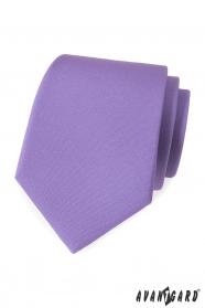 Jasnofioletowy matowy krawat