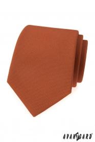 Cynamonowy brązowy krawat
