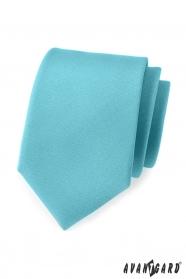 Krawat męski w kolorze matowego turkusu