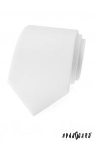 Matowy biały krawat