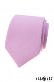 Matowy krawat w kolorze liliowym