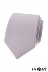 Jasnoszary krawat męski