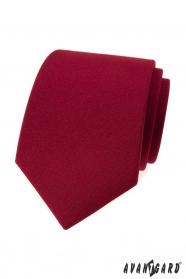 Matowy krawat męski w kolorze bordowym