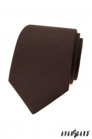Męski matowy brązowy krawat