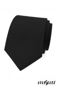 Matowy czarny krawat