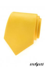 Krawat męski w żółto-matowym kolorze