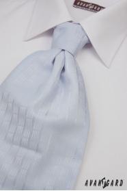 Krawat ślubny jasnoniebieski delikatny wystrój