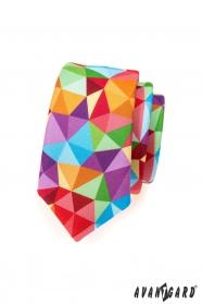 Kolorowy wąski krawat
