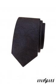 Brązowy, strukturalny krawat z wzorem Paisley