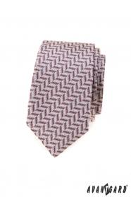 Wąski krawat w pudrowy róż