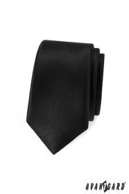 Wąski czarny krawat męski Avantgard