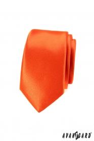 Krawat wąski, odważny, pomarańczowy kolor