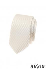 Krawat SLIM w kremowym odcieniu