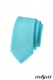 Wąski krawat SLIM turkusowa
