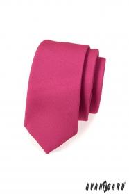 Wąski krawat SLIM mat fuksja