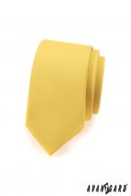 Wąski krawat dla mężczyzn jasnożółty