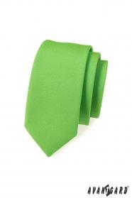 Wąski krawat zielony mat