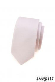 Wąski krawat Avantgard w kolorze pudrowym