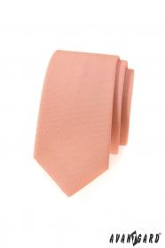Wąski krawat w kolorze łososia