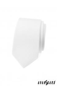 Biały wąski krawat