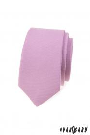 Wąski krawat w kolorze liliowym