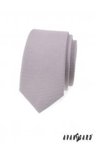Szary wąski krawat