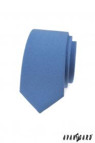 Niebieski wąski krawat