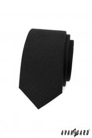 Czarny wąski krawat