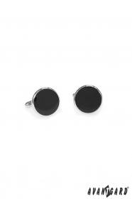 Okrągłe spinki do mankietów czarne