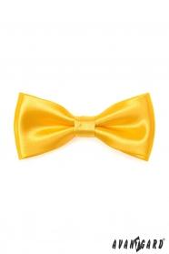 Żółta muszka z poszetką
