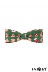 Zielona mucha ze świątecznym motywem