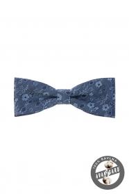 Niebieska bawełniana muszka męska