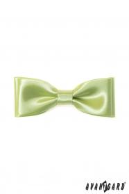 Klasyczna męska muszka w kolorze limonkowej zieleni