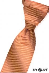 Krawat ślubny, pomarańczowe paski