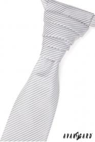 Krawat ślubny z delikatnym błyszczącym paskiem