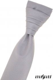 Szary, strukturalny krawat angielski