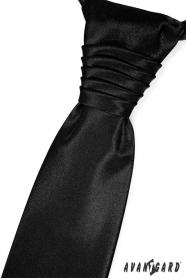 Elegancki czarny krawat ślubny
