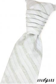 Krawat ślubny zielone paski