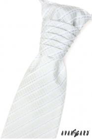 Ślubny zielony krawat w paski