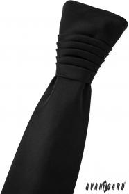 Angielski krawat ślubny czarny mat